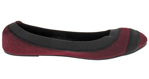 Capelli New York Womens Wool Fabric Flat Berry Combo gqjHo