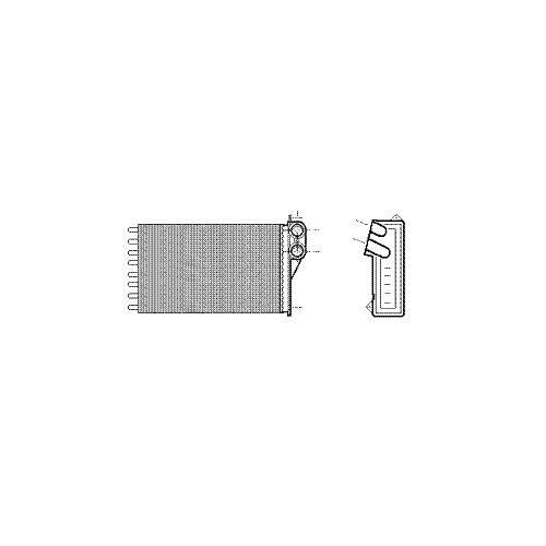 Van Wezel 37006240 intercambiador de calor para sistema de calefacci/ón