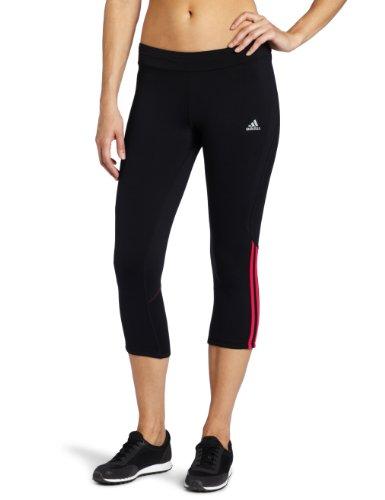 adidas Women's response Drei Streifen Three-Quarter Tight, Black, Medium