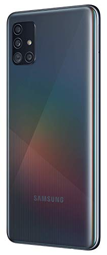 Samsung Galaxy A51 (Black, 8GB RAM, 128GB Storage) Without Offer 2021 July 48MP (F1.8)+12MP (F2.2)+5MP(F2.2)+5MP(F2.4) rear camera   32MP front facing camera 16.40 centimeters (6.5-inch) super Amoled infinity-O display and FHD+ capacitive multi-touch touchscreen with 2400 x 1080 pixels resolution   16M color support Memory, Storage & SIM: 8GB RAM   128GB internal memory expandable up to 512GB   Dual SIM dual-standby (4G+4G)