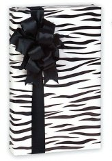 Trendy Boutique Black & White Zebra Striped Gift Wrap Wrapping Paper 16 Foot Roll ()
