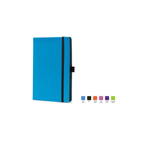 CALYPSO Ruled, Flexicover Notebook Journal with Premium Paper, 192 Lined Pages, Pen loop, Bookmark ribbon, Gusseted back pocket, Torquois Blue Cover, Size 5.5 x 8.5