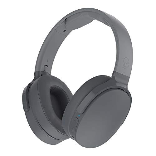 Skullcandy Hesh 3 Bluetooth Wireless Over-Ear Headphones with Microphone, Rapid Charge 22-Hour Battery, Foldable, Memory Foam Ear Cushions for Comfortable All-Day Fit, Gray