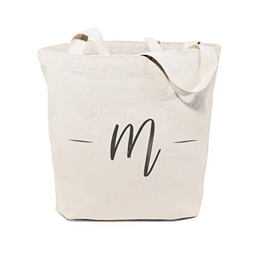 The Cotton & Canvas Co. Personalized Handwritten Monogram Beach, Shopping and Travel Reusable Shoulder Tote and Handbag