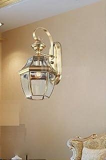 luci esterne impermeabili Continental americani lampada da parete esterna retrò creativo balcone muro Villa Hof esterni Applique da parete