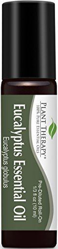 Plant Theerapy Eucalyptus (Globulus) Pre-Diluted Essential Oil Roll-On 10 ml (1/3 fl oz) 100% Pure, Therapeutic Grade