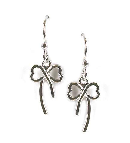 Jody Coyote Earrings New E832 Silver Bow Dangle Flourish Collection ()