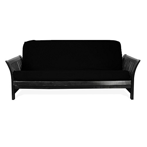 Twill Black Futon Cover (Magshion* Fit 8~10 Inch Futon Mattresses Futon Cover Slipcover (Full (54x75 in.), Black))