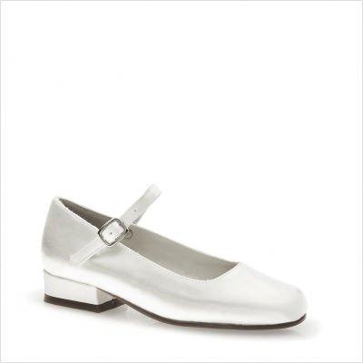 Touch Ups Jill Girls White Dress Shoes 10 M