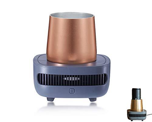 ORPERSIST Enfriador De Vasos Eléctrico De La Taza Elegante De La Bebida Fría De Escritorio con La Taza De Aluminio