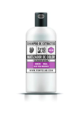 Fonte LAB Shampoo Matizador de Canas, Extractos Naturales, 400 ml, el empaque puede variar