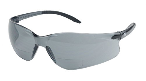 Encon Bifocal Safety Sun Glasses, 2.0 Magnification, Gray Lens with Scratch Coat, Z87.1 - 2.0 Sunglasses Magnification