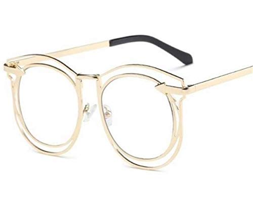 FlowerKui gafas Marco hueco gafas unisex protectoras decoración para ojos Silver rxXrvqdw