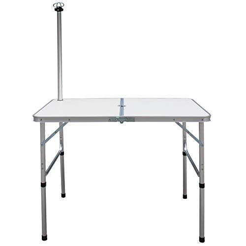 Camp Field Camping Table with Adjustable Legs for Beach, Backyards, BBQ, Party and Picnic Table Medium