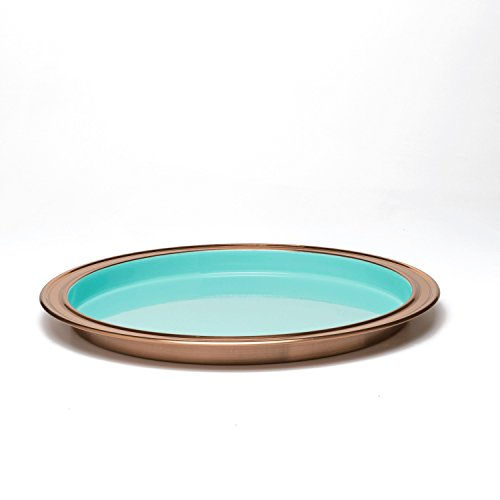 Fiesta Tray - Fiesta 9222BTR Barware Tray with Copper Accent, 14