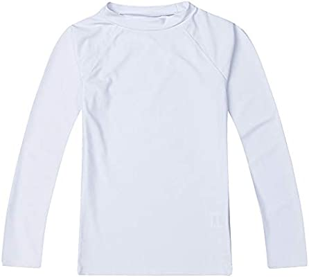 LACOFIA Traje de baño Infantil Camiseta de baño de Manga Corta para niños Rashguard con protección Solar UPF 50 + Secado rapido