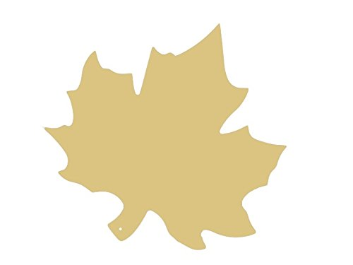 Maple leaf Cutout OAKLEAF SPECIAL OCCASION AND HOLIDAY FALL THEME Unfinished Wood MDF Cutouts Decor USA Made (18