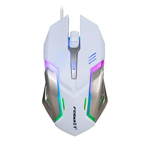 Redvive Top LED Wired Gaming Mouse Professional 4 Buttons 1600DPI Adjustable Optical Mice