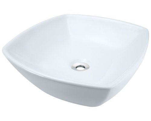 picture of Polaris Sinks P2081VW White Porcelain Vessel Sink