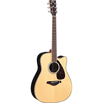Yamaha FGX730SC Solid Top Acoustic-Electric Guitar - Rosewood, Natural