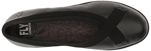 FLY London Womens Black Pump Mousse Wedge London Bobi FLY Hdqr6q7