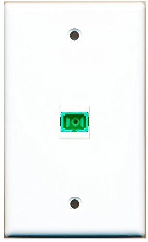 RiteAV - 1 Port Fiber SC APC Simplex Wall Plate - Bracket Included