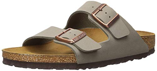 Birkenstock Unisex Arizona Stone Birkibuc Sandals - 38 R EU (US Men EU's 5-5.5, US Women EU's -