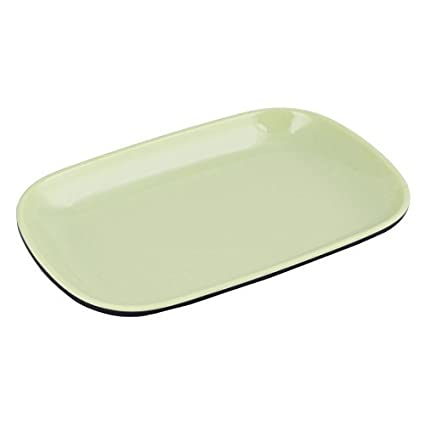 DealMux melamina Home Kitchen Oval placa em forma Fruta vegetal Bandeja prato verde