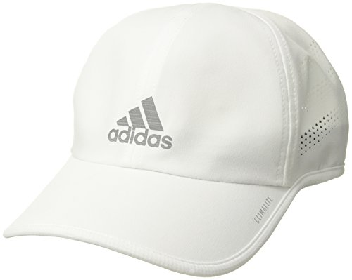 (adidas Men's Superlite Pro Relaxed Adjustable Performance Cap, White/Silver Reflective, One Size )
