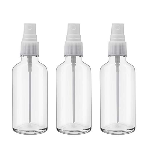 2oz Clear Glass Spray Bottles for Essential