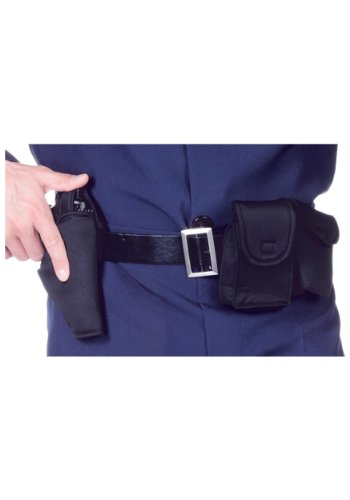 Underwraps Costumes Unisex Police Utility Belt Costume, Black, One Size (Adult Cop Belt)