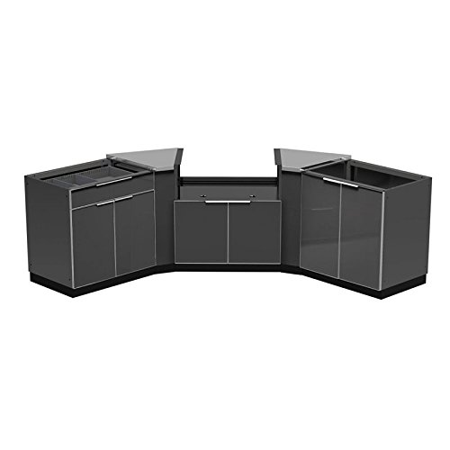 NewAge Outdoor Kitchen 5 Piece Kitchen Set in Aluminum Slate by New Age