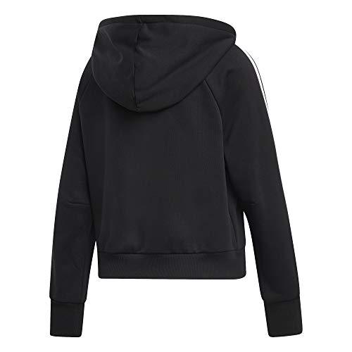 Full Cappuccio Hoodie Women's stripes Con zip Felpa Haves Adidas Donna 3 Nero Must XfqxZT