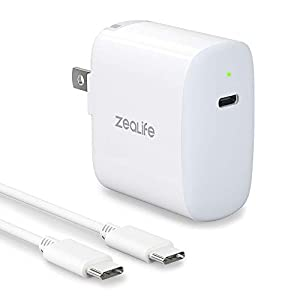18W USB C Fast Charger for Apple iPad Pro 2020/2018 12.9 iPad Pro 11, Google Pixel 2 3 4 3A Pixel XL 2XL 3XL 4XL Samsung Galaxy S9 S8 Note10 9, 18W USB C Power Adapter with 6.6ft USB C to C Cable