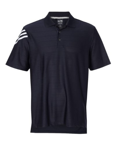 adidas A133 Mens ClimaCool Mesh Polo - Navy & White, Large (Textured Mesh Polo Shirt)