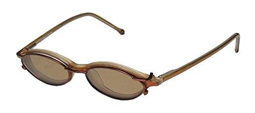 Member's Mark 903 Mens/Womens Designer Full-rim Sunglass Lens Clip-Ons Spring Hinges Eyeglasses/Glasses (45-15-140, Honey - Cycling Sunglasses Prescription Progressive Lenses