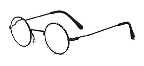 (Funky Feel - John Lennon Style Round Metal Frame Reading Glasses - Pewter 3.50)