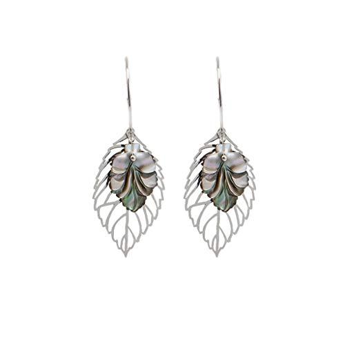 - IslandseSimple Metallic Outer Ring Irregular Shape Love Acrylic Earrings Ladies Jewelry (D)