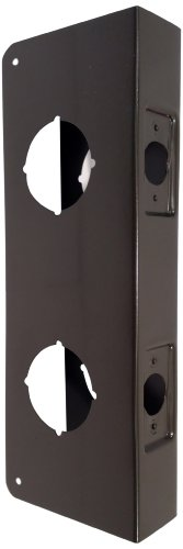 Don-Jo 942-CW 22 Gauge Stainless Steel Classic Wrap-Around Plate, Oil Rubbed Bronze Finish, 4