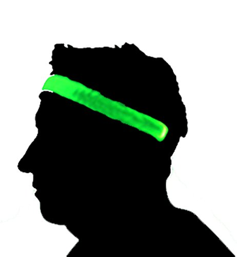 GlowCity Light Up Headbands-Green -