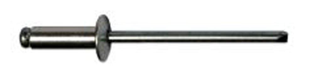 irsa24 25 STK. Blindnieten Nieten Alu/Stahl Flachkopf (2.4 x 6 mm)