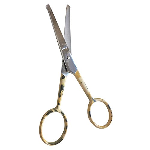 stainless steel scissors professional facial grooming scissors nose hair trim. Black Bedroom Furniture Sets. Home Design Ideas