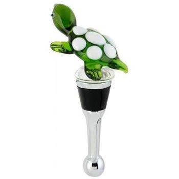 Turtle Glass Wine Bottle Stopper ()