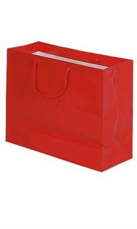 Eurotote Bag (Case of 100, Christmas Gift Wrap, Large Red Glossy Euro Tote Bag, 16