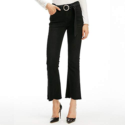 Nero L Nove Leggera Micro Lama Jeans Alta Xs Mvguihzpo Donna Pantaloni Vita xAzYPn