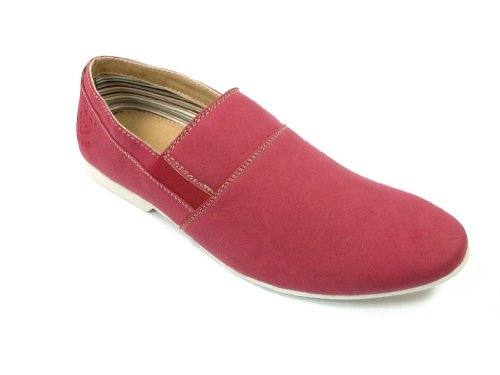Mens 30221 Slip On Mocassin Mocassin Casual Chaussures Rouge