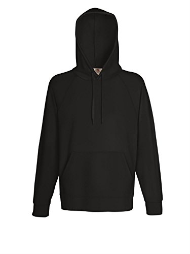 Fotl Mens Classic Hooded Sweat Jacket Black M (Fruit Of Loom Hoodie)