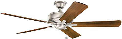 Kichler 330249NI, Terra Brushed Nickel 60″ Ceiling Fan