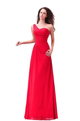 Bridal_Mall - Robe - Trapèze - Femme -  rouge - 46