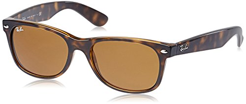 Ray Ban Jr. New Wayfarer Sunglasses, 55mm, Shiny Avana Frame, Tortoise/Crystal Brown - Luxottica Rayban
